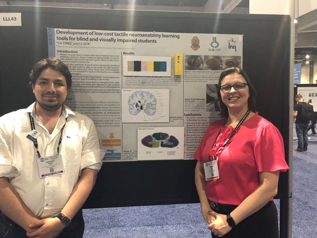 Giovanne Diniz and Dr. Luciane Sita at their poster during SfN's Annual meeting